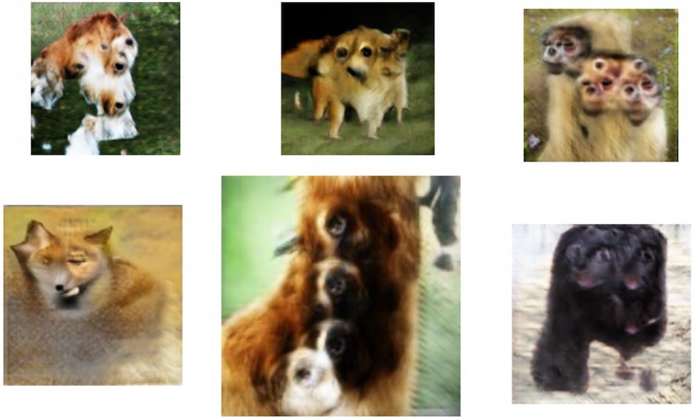 Animaux générés avec un nombre inexact de parties de corps à partir du dataset ImageNet