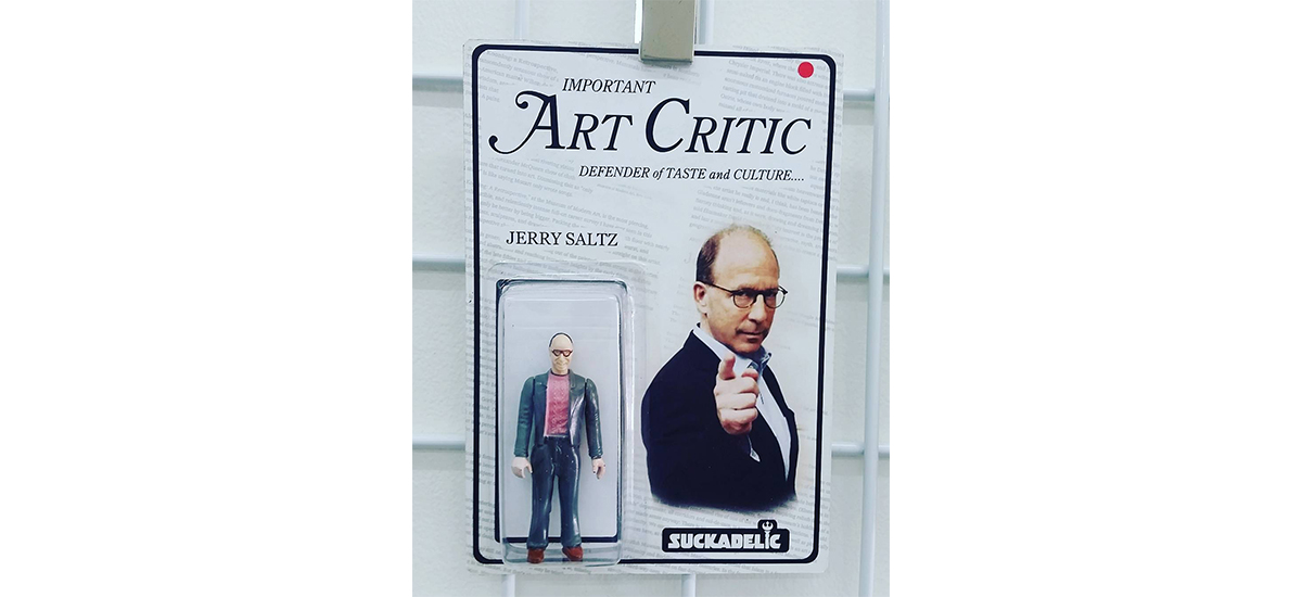 "Sucklord , Work of Art, Jerry Saltz ""Important Art Critic: Defender of Taste and Culture"", 2018."