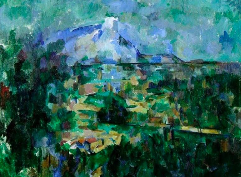 La montagne Sainte-Victoire vue des Lauves 1904-1906