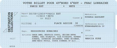 DESTINATION COLLECTIONS #18 – 49 Nord 6 Est – FRAC Lorraine