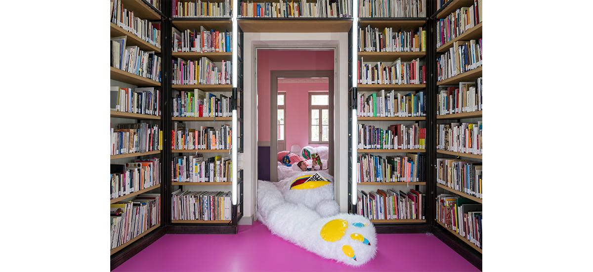 TextMe, Fluffy Library, Antigoni Tsagkaropoulou. Photo Panos Kokkinias