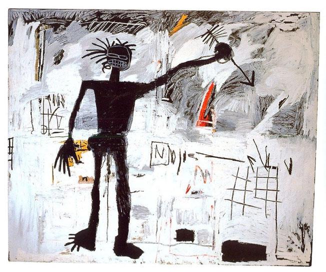 Jean-Michel Basquiat, Self-Portrait, 1982. Acrylique et pastel gras sur toile de lin, 193 x 239 cm