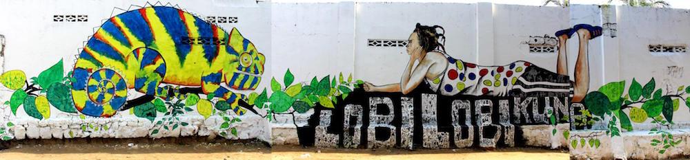 Lydia Schellhammer et Christ Mukenge, Peinture dans l'espace public, Kinshasa