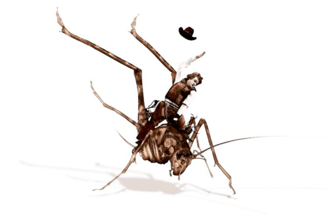 Ghyslain Bertholon, Grasshopper Boy II, 2014, dessin sur papier, tirage fine art,  40 x 60cm