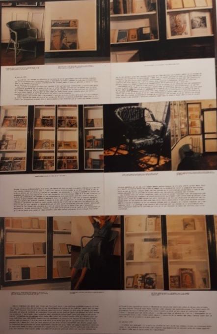 Jean Le Gac, La Bibliothèque…, photo-texte, 1979