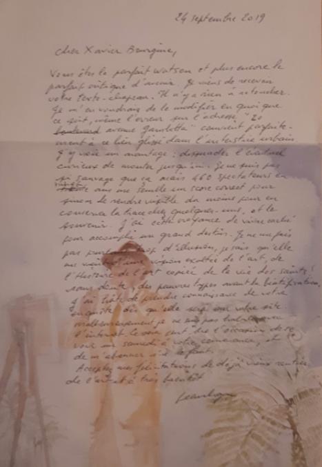 5. Lettre du 24 septembre de Jean Le Gac à moi-même, approuvant finalement l'article